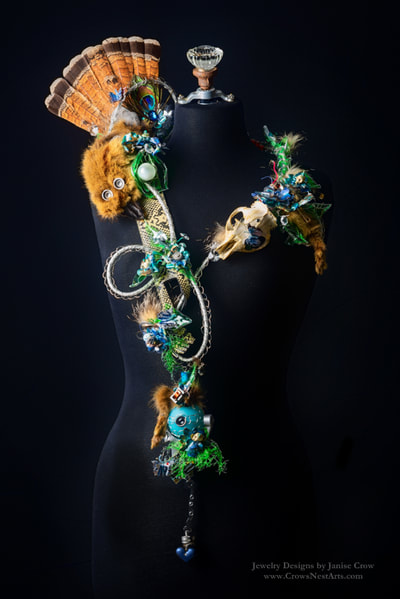 """Beast In Me"" Fashion & Wearable Art by Janise Crow recycled/repurposed art exhibit"