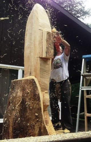 Chainsaw carving crows nest arts