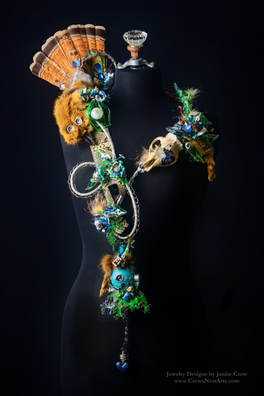 Beast In Me Recycled Art Necklace by Janise Crow